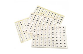 ADHESIVE LABELS WITH NUMBERS